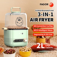 【Fagor】 Air Fryer 2 in1 Air Fryer+Electric Roast Pan Nonstick Basket Oven Oilless Cooker LED Touch