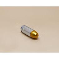 < WLder > M1911 湯姆森 .45手槍 裝飾彈 銀 (操作槍道具槍擺飾品子彈模型彈殼假彈道具彈11.46mm X 23mm