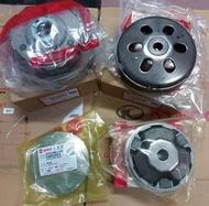 三陽原廠離合器外套+驅動盤總成(綠皮)+前驅動盤組+普利風葉盤 適用機種:新迪爵化油車/舊悍將