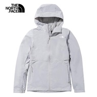 【The North Face】The North Face北面女款麻灰色防水透氣衝鋒衣|49B9DYX