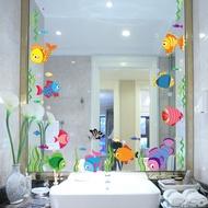 StickersCartoon wall stickers bathroom toilet glass door mirror mirror frame decoration waterproof s