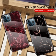 Iphone 12/12 Mini/12 Pro/12 Pro Max Marble Tempered Glass Case Cover