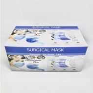 Masker 3 PLY MEDIS HITAM Hitam / Putih / Biru Earloop Masker Medis / I-CARE 1 BOX 50 pcs