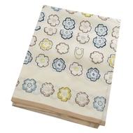 COACH 小花圖案絲質方巾/絲巾(米白色)
