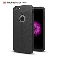 For iPhone 6Plus 6sPlus Case High-end Business Bionic Leather Gel Rubber Shockproof Drop Protection Full Body Protective Cover Case for Apple iPhone 6 Plus / 6S Plus