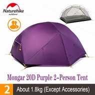 Naturehike Mongar 2 Person Tent Ultralight 20D Double Layer Waterproof Camping Tent Travel Hiking Equipment With Mat NH17T006-T