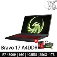 msi微星 Bravo 17 A4DDR-038TW 17.3吋電競筆電AMD R7 4800H/16G/256G+1T