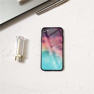 Korea Nordic marble sky phone case for oppo R11 R11S plus R15 R17 pro A5 huawei P20 RPO tempered gla