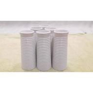 Pot melamin bunga plastik | Pot putih bunga plastik | Pot bunga artificial | Pot bunga hias