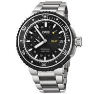 【ORIS 豪利時】ProDiver GMT雙時區千米潛水錶-黑/49mm(0174877487154-0782674PEB)