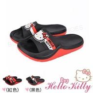 【HELLO KITTY】20-25cm 童鞋親子鞋 輕量減壓吸震室內外拖鞋(紅&黑色)