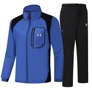 Under Armour 安德瑪 UA 衝鋒衣套裝 兩側口袋拉鏈 運動休閒 戶外 遠足 舒適透氣