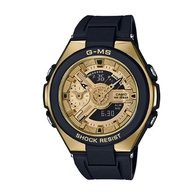 CASIO 卡西歐 MSG-400G-1A2DR BABY-G 成熟璀璨耀眼女錶 黑 金 45mm