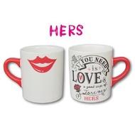 D.M caf'e -【附發票】K-AI LOVERS MUG HIS&HERS 馬克杯(紅脣)/咖啡杯/對杯/辦公室