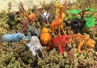 家家酒 動物方程式 迷你動物園 獅子 老虎 大象 12入套餐(含圍欄) 乖乖桶 學習/認知/幼教【塔克】