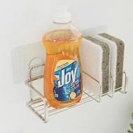 完美主義 不鏽鋼水槽架/洗碗精菜瓜布架/瀝水架/無痕貼(2入組)