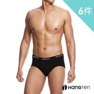【Hang Ten】momo獨家彈力棉三角褲.男內褲買三送三超值6件組(HT308)