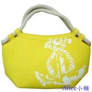 Alice小舖【NAUTICA】亮黃系列 (小) 手拿包休閒帆布包/帆布斜背包/肩背包/學生包
