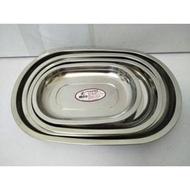 304不鏽鋼橢圓盤 304盤 長盤 烤盤 魚盤 菜盤 水果盤 304(18-8)不鏽鋼橢圓盤(華鈺)一入(82元)