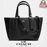 NEW Coach一F33537 Crossbody Mini Carryall In Smooth Leather Bag [Light Gold/Black]  bags
