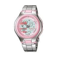 CASIO POPTONE นาฬิกาผู้หญิง สีเงิน สายสแตนเลส รุ่น L14AVDRF