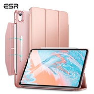 ESR Yippee Trifold Smart Case for iPad Air 4, Lightweight Stand Case with Clasp, Auto Sleep/Wake [Supports Apple Pencil 2 Wireless Charging], Hard Back Cover for iPad Air 4 2020