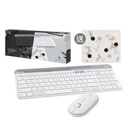 Logitech K580 白+M350 白+風格小鼠墊 限量禮盒