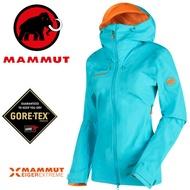 【Mammut 長毛象 瑞士】Nordwand HS GTX 極限艾格系列 防水外套 登山外套 滑雪防水外套 女款 北極藍/25720-5205