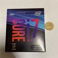 全新 INTEL i7 8700K 英特爾 八代 CPU 處理器 聯強 公司貨 非9700k