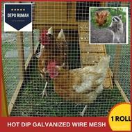 "TAOGUA1/2"" x 1"" x 17G# x 3' x100' Hot Dip Galvanized BRC Welded Iron Wire Mesh Net Netting /Dawai Jaring▓ iyR6"
