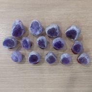 限量 天然 玻利維亞河床紫黃晶(放了約20年)剛從倉庫清出共約800公克 送木底座 共14個ㄧ批