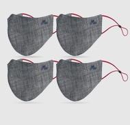 ผ้าปิดจมูกMc jeanแท้100% ทรง3D รุ่นแอนตี้แบคทีเรีย สียีนส์ดำ