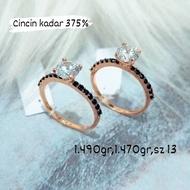 Cheap Gold Ring Diamond Gold 375% 1.490 / 1.470gram Size 13
