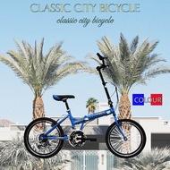 【Denny shop】都市晶鑽 20吋24速折疊車 小折 腳踏車 自行車 紅色 藍色