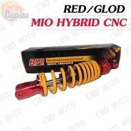Wow ++ โช๊คหลังแต่ง แบรนด์BMBแท้สำหรับ MIO,FINO,CLICK,ICON,SCOOPY i แบบHYBRID/CNC สีตัดแดง มีให้เลือก5สี ราคาถูก อะไหล่ มอเตอร์ไซค์ อะไหล่ รถ มอเตอร์ไซค์ อะไหล่ แต่ง มอเตอร์ไซค์ อะไหล่ มอ ไซ ค์