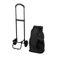 RADARBULLE 推車式購物袋, 黑色