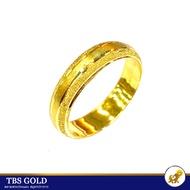 TBS แหวนทองครึ่งสลึง รุ้งตัดลาย หนัก 1.9 กรัม ทองคำแท้96.5% ขายได้ จำนำได้ มีใบรับประกัน