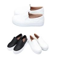 【My style】富發牌1BE44個性派真皮厚底懶人鞋(黑.白)23-25號-任兩雙免運
