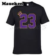 Men King Goat 23 Lebron James T-Shirt洛杉磯La Cleveland衣服T恤M.