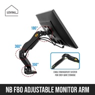 HYDRAULIC MONITOR ARM MOUNT F80 STAND ADJUSTABLE NORTH BAYOU DESKTOP ORGANIZER COMPUTER SCREEN FOR TABLE DESK RISER VESA DUAL HEIGHT NORTH BAYOU NB WALL RAISER SINGLE CLAMP MOUNTING BASE ADAPTER FOR XIAOMI DELL HP PRISM LG SAMSUNG MONITOR TV
