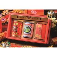 【野味食品】三寶好禮31 (智利貝鮑鮑魚罐頭+北海海螺螺肉罐頭+一吉膳元貝XO醬)(附贈年節禮盒、禮袋春節傳統年貨禮盒)