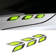 Car Reflective Stickers Decals Light Green Reflective Warning Stickers