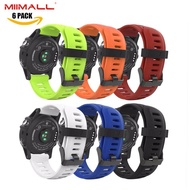[6 PCS] Miimall Fenix 3 Strap, Soft Silicone Replacement Bracelet Wrist Band Watch Strap for Garmin Fenix 3/ Garmin Fenix 3 HR/ Garmin Fenix 5X Smart Watch - Multi Colors