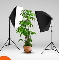 105瓦攝影燈套裝LED專業柔光箱簡易微型小型攝影棚大型產品拍攝道具拍照