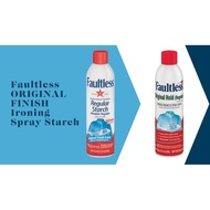 Faultless Regular Starch Spray Original Finish Ironing Starch Spray Fresh Scent Easy On Iron From USA+Free Mystery Gift�