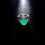 【東洋商行】台灣藍寶 藍玉髓 女性戒指 戒指 精緻戒指 典雅戒指 蛋面戒指 單石戒指 變色龍礦種