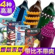 ﹉™Ye Qingqing Flagship Store Student Orgasm Threaded Large Particle Condom Sex Animal Appeal Alien M