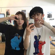 Ready Stock Ins Super Fire Kaws Street Cartoon Short-Sleeved Jay Chou T-Shirt Loose Couple