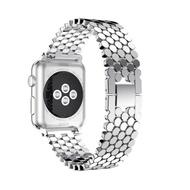 สายนาฬิกาข้อมือสำหรับ Apple Watch 42mm Series 6 SE 5 4 3 2 เหล็กสแตนเลสสายสำรองสำหรับ i Watch 4 40 มม.44 มม.38 มม. สายคล้อง