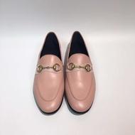 【Go時尚】Gucci Brixton Loafers 粉色 踩跟鞋 皮革 踩腳 踩後跟 樂福鞋
